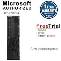 Lenovo ThinkCentre M81 Desktop Computer SFF Intel Core I5 2400 3.1G 8GB DDR3 2TB Windows 10 Pro 1 Year Warranty (Refurbished)