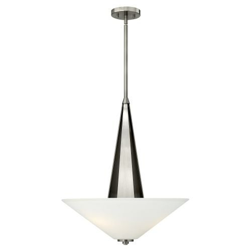 Hinkley Lighting 4134 3 Light Indoor Full Sized Pendant from the Victory Collection - Brushed nickel