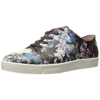 Calvin Klein Womens Imilia Leather Low Top Lace Up Fashion Sneakers