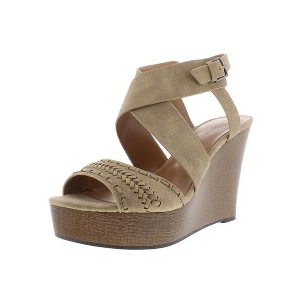 fd28a2ad4292 Indigo Rd. Womens Kash Wedge Sandals Faux Leather Slingback - 8.5 Medium (B