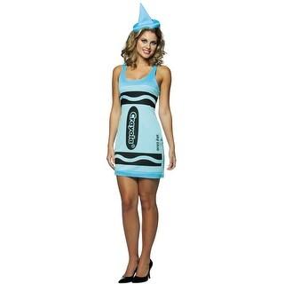 Rasta Imposta Crayola Sky Blue Tank Dress Adult Costume - Solid - 4-10