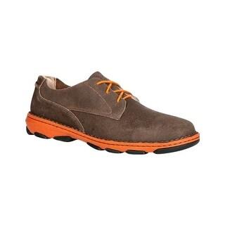 Rocky Work Shoes Mens Cruiser Slip On Memory Foam Brown RKS0205