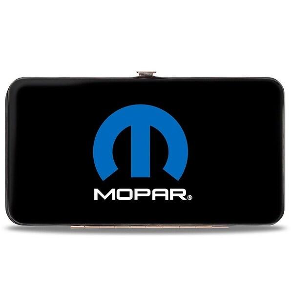 Mopar Logo Black Blue White Hinged Wallet - One Size Fits most