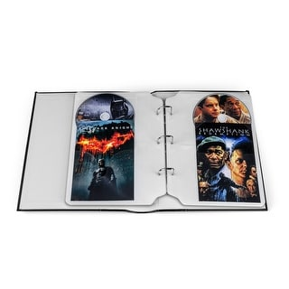 Large Cd Dvd Storage Binder System Pack Of 2 Free Shipping On