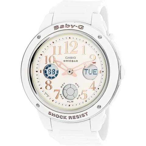 Casio Women's Baby G White Rubber Quartz Sport Watch