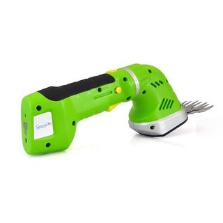 Cordless Handheld Grass Cutter Shears, Electric Hedge Shrubber Trimmer, Built-in 7.2V Rechargeable Battery (Changeable Blades)