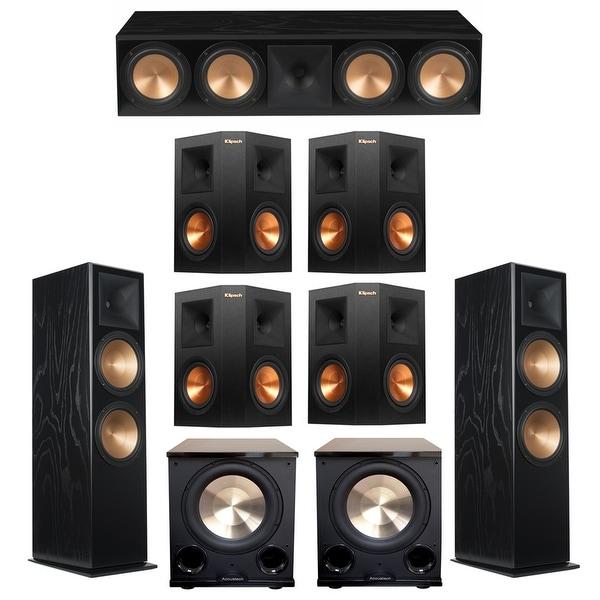 Klipsch 7 2 Black Ash System with 2 RF-7III Floorstanding Speakers, 1  RC-64III Center Speaker, 4 Klipsch RP-250S Surround Speake