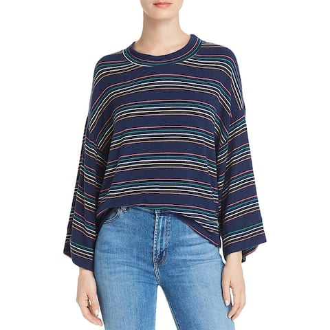 Sundry Womens Sweatshirt Striped Crew Neck - Multi