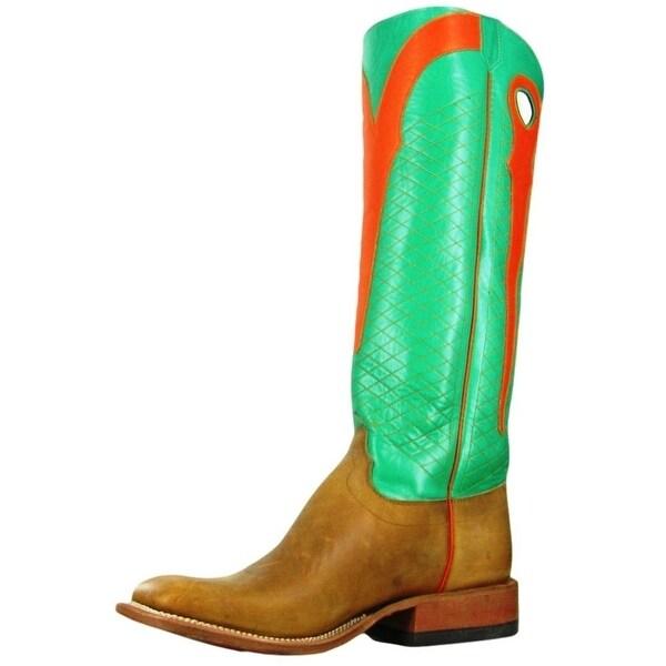 Olathe Western Boots Mens Leather Cowboy Burnished Kidskin Rust