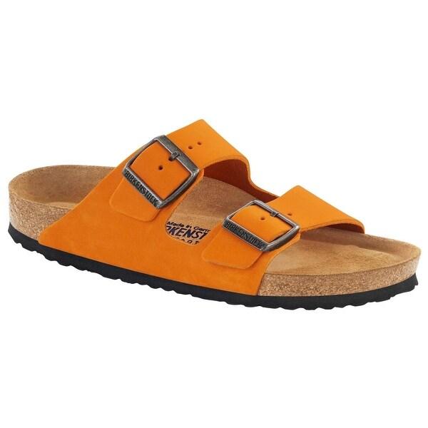 Birkenstock Unisex Arizona Orange Nubuck Sandals - 41 M EU / 10-10.5 B(M) US