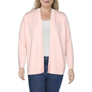 Link to Anne Klein Womens Malibu Sweater Long Sleeve Open Front - Cherry Blossom Similar Items in Women's Sweaters