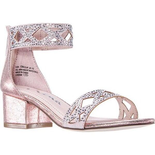 9e739bf915e Nina Girls  x27  Kellsey Ankle Cuff Sandal Rose Gold Shimmer Synthetic