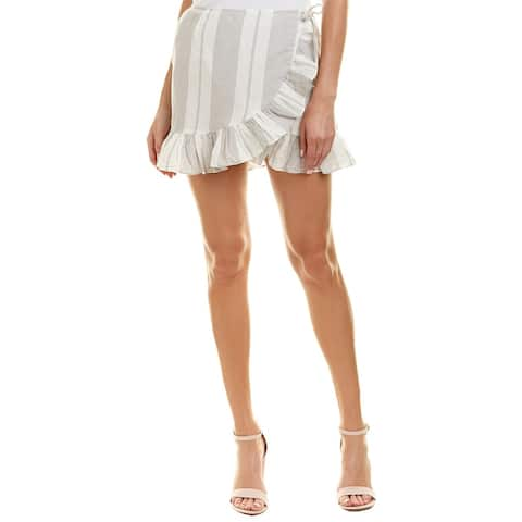 Yfb Clothing Flutter Linen-Blend Skirt
