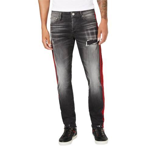 Jack &J ones Mens Glenn Slim Fit Jeans, Black, 33W x 32L - 33W x 32L