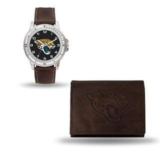 RicoIndustries WTWAWB0901 Jaguars Brown Watch And Wallet