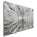 Statements2000 Silver 3 Panel Modern Metal Wall Art Sculpture by Jon Allen - Vortex 3P - Thumbnail 0