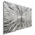 Statements2000 Silver 3 Panel Modern Metal Wall Art Sculpture by Jon Allen - Vortex 3P - Thumbnail 0