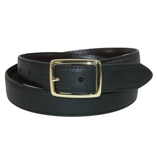 Dickies Boys' Gold Centerbar Buckle Reversible Belt - Black
