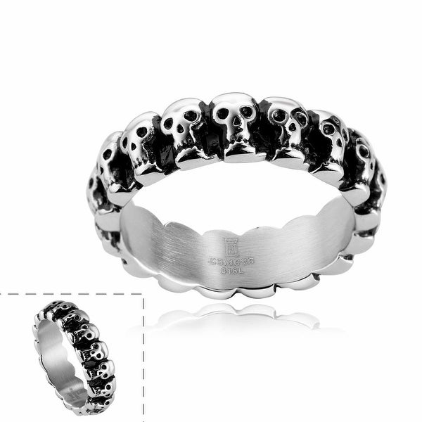 Vienna Jewelry Line of Skulls Stainless Steel Ring