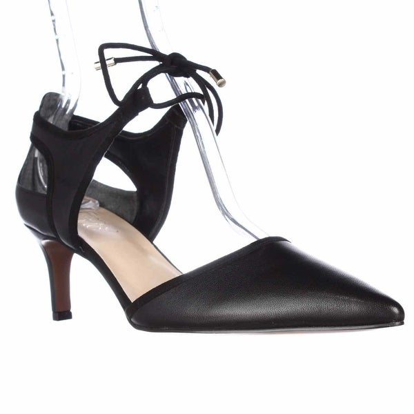 Franco Sarto Darlis Lace Up Dress Pumps, Black