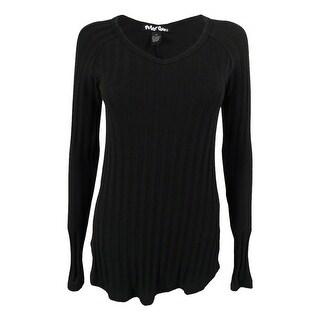 Planet Gold Juniors' Rib Knit Tunic Sweater