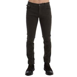 Costume National Costume National Green Slim Fit Cotton Stretch Denim Jeans - w34