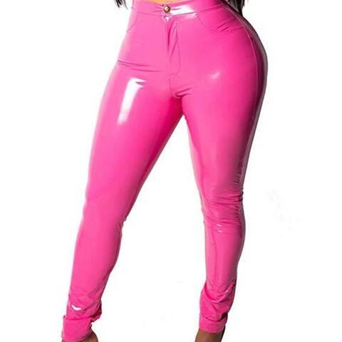 Women's Gold Shiny Metallic Leggings