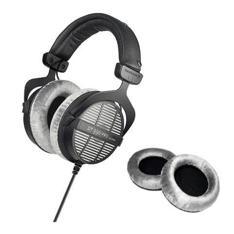 Beyerdynamic DT-990 Pro Open Dynamic Headphones with Black Earpads Set