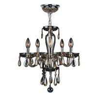 Worldwide Lighting W83127C16-GT Gatsby 5-Light Candle Style Crystal Chandelier - Chrome