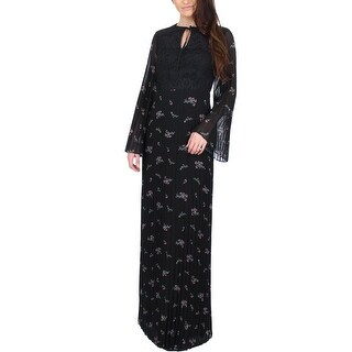 Juicy Couture Black Label Womens Maxi Dress Chiffon Floral Print