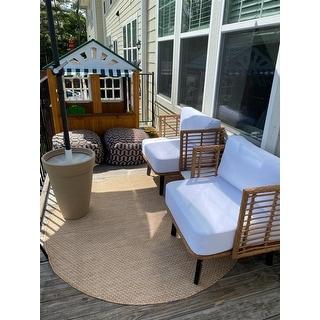 SAFAVIEH Courtyard Jonell Indoor/ Outdoor Patio Backyard Rug