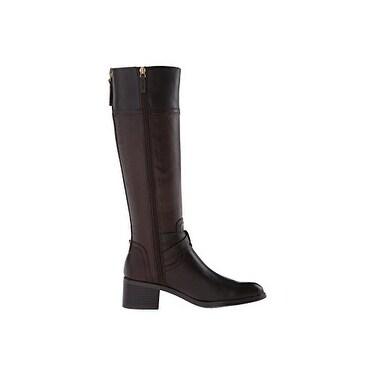 Franco Sarto Womens Lapis Wide-Calf Western Boot