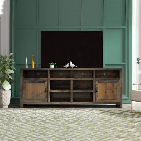 Carbon Loft Pendragon Brown 84-inch Barnwood Traditional TV Console