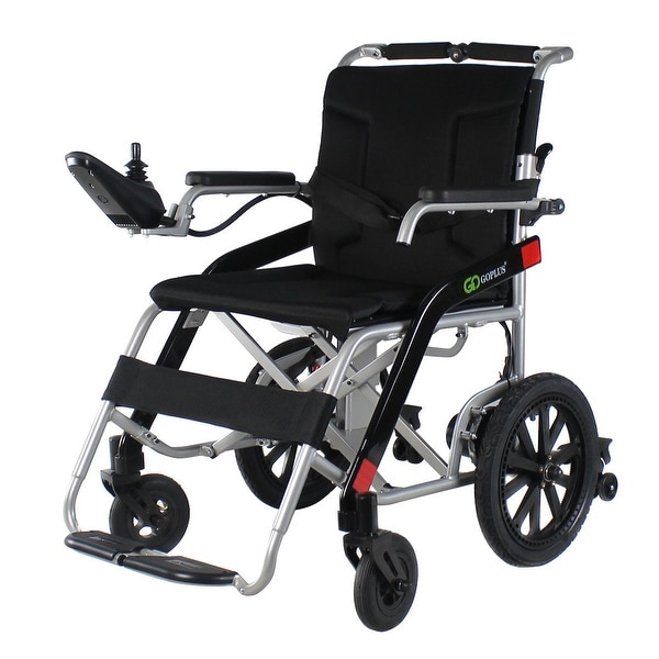 Costway Heavy Duty Aluminum Foldable Wheelchair Electric Power Propelled Lightweight New