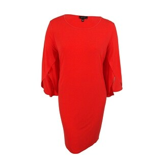 Spense Women's Split Sleeves Shift Dress - Red Hot|https://ak1.ostkcdn.com/images/products/is/images/direct/7e0839c3e9690409b778cda15656fc18622d7791/Spense-Women%27s-Split-Sleeves-Shift-Dress.jpg?_ostk_perf_=percv&impolicy=medium