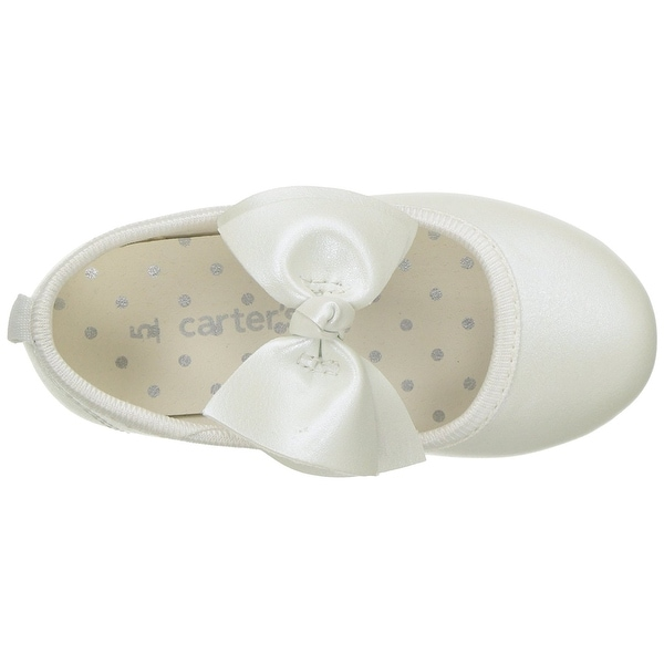 Carter/'s Baby And Toddler Anora Girl/'s Ballet Flat Shoes Dress Ivory bow New