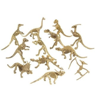 Super Educational Dinosaur Skeleton Figures - Set of 12 - (12) dino skeletons