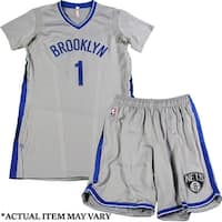 Trevor Booker Brooklyn Nets Brooklyn Blue Game Used 35 Grey Jersey  Short Set