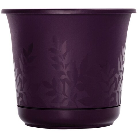 """Bloem FP0856 Freesia Etched Planter, Resin, 8"""", Exotica"""