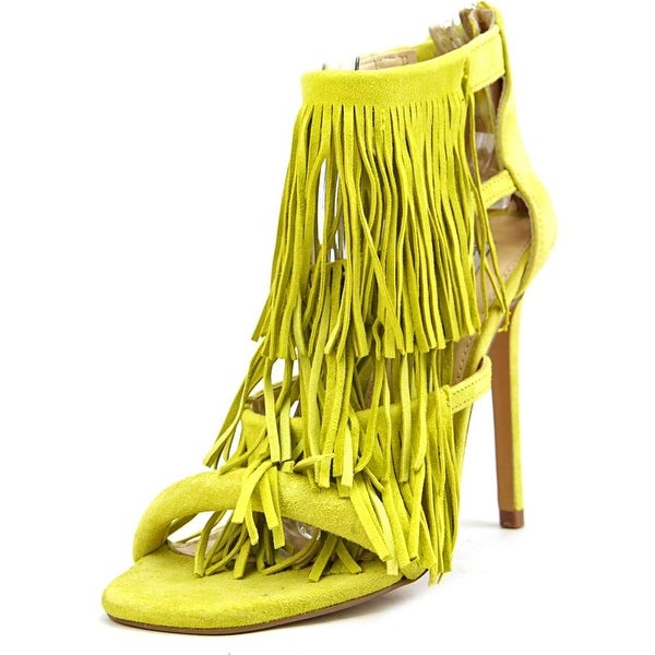Steve Madden Fringly Womens Yellow Sandals