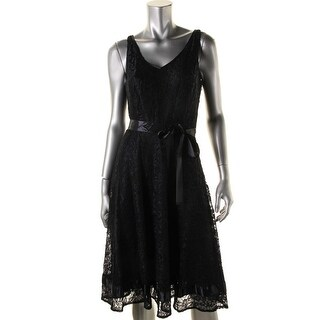 Tahari ASL Womens Lace Sleeveless Cocktail Dress - 8