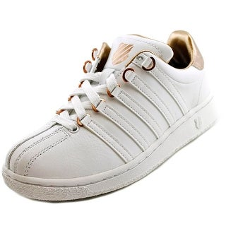 K-Swiss Classic VN Aged Foil Women Round Toe Synthetic White Sneakers