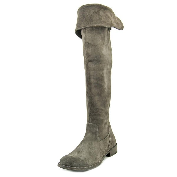 a87e094b9aa Shop Frye Shirley OTK Round Toe Leather Over the Knee Boot - Free ...