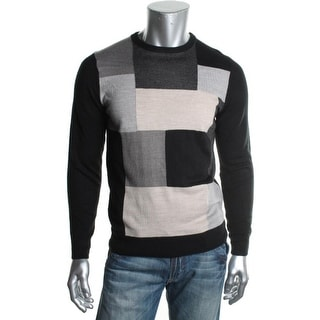 Tricots St. Raphael Mens Knit Colorblock Pullover Sweater - L