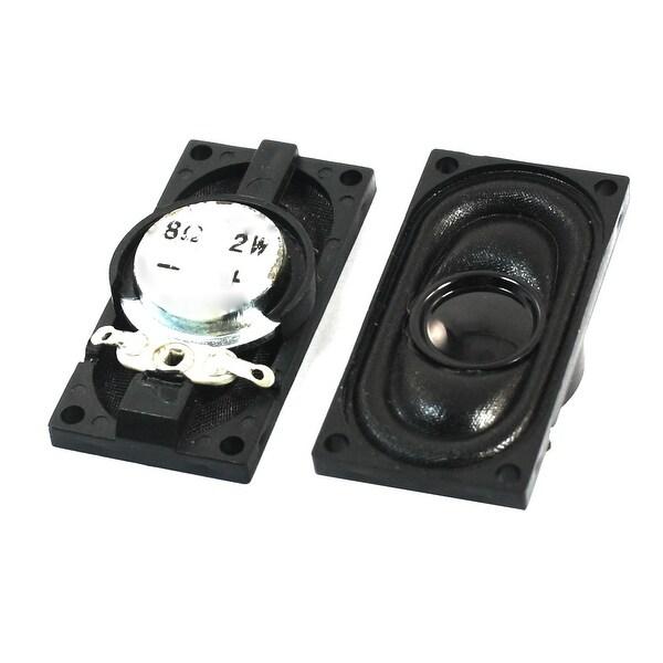 Unique Bargains Replacement Plastic Shell Magnetic Notebook Speaker Trumpet 2W 8 Ohm 2Pcs