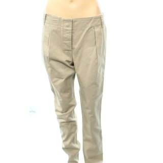 Kule NEW Beige Pleated Front Khaki Women's Size 6X30 Casual Pants