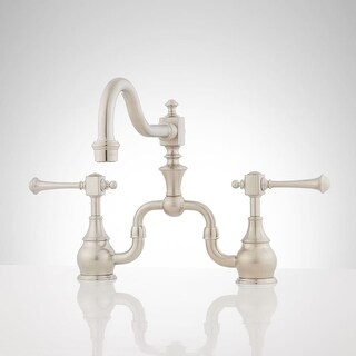 Signature Hardware 921259 Vintage 1.8 GPM Bridge Kitchen Faucet - n/a