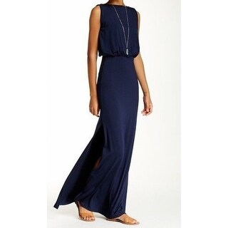 Go Couture NEW Navy Blue Women's Size Small S Slit Blouson Dress