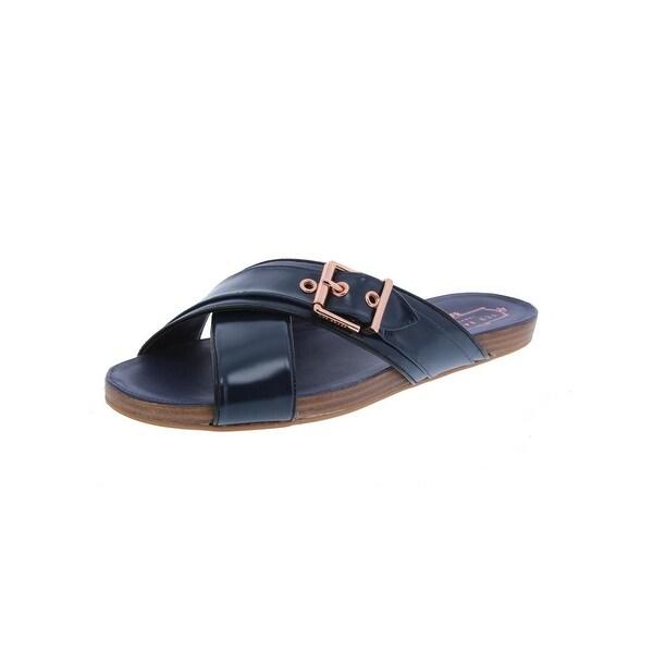 Ted Baker Womens Lapham Slide Sandals Leather Open Toe