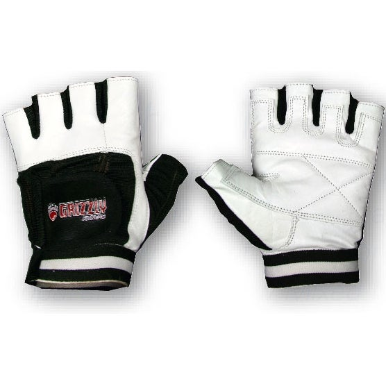 Grizzly Fitness Paws Leather Training Gloves - White